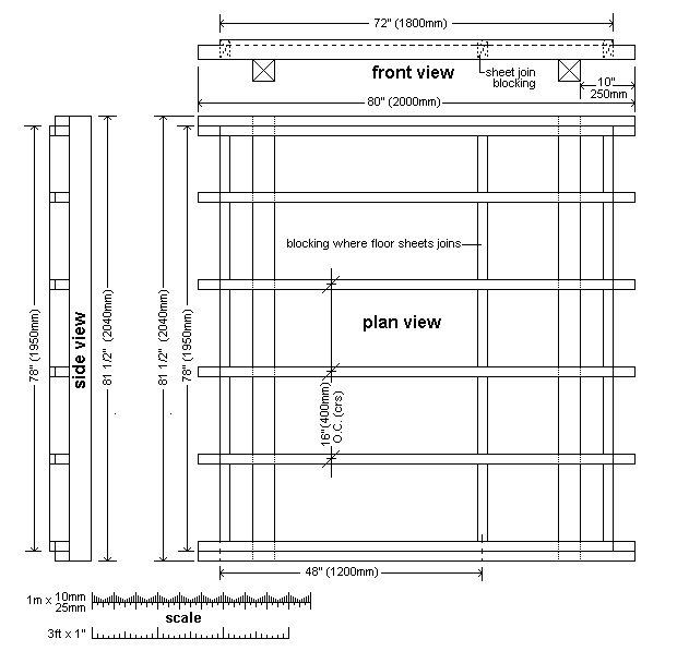 8x7 Tudor-Style Garden Shed Plan : Sub-Floor