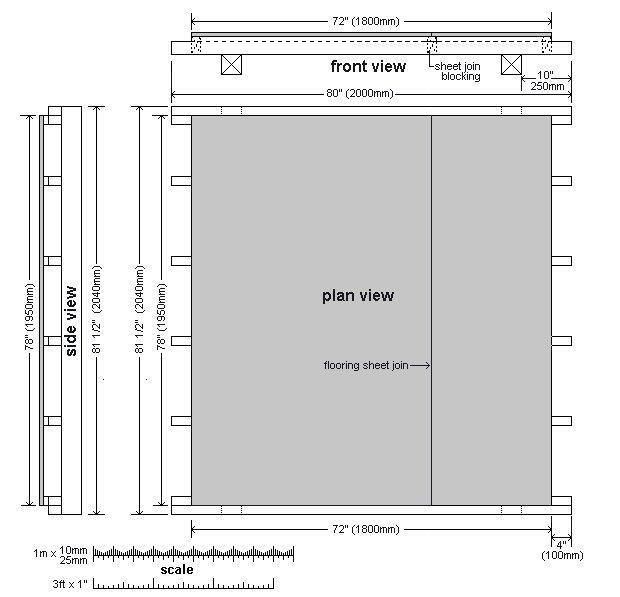 8x7 Tudor-Style Garden Shed Plan : Flooring
