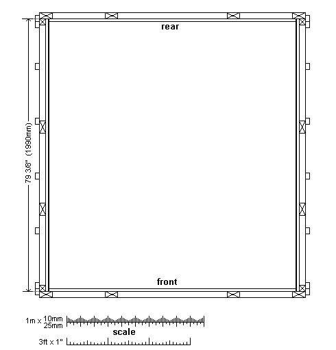 8x7 Tudor-Style Garden Shed Plan : Frame Layout