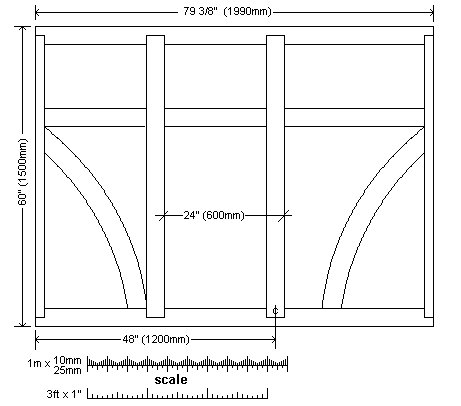 8x7 Tudor-Style Garden Shed Plan : Side Wall Frame