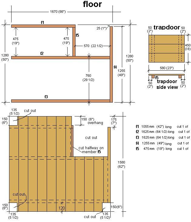 Kid's Play Fort Plan : Floor Plan