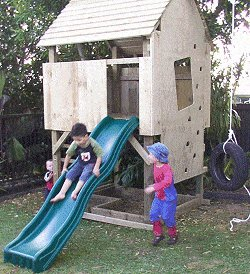 Kid's Play Fort Plan : Slide