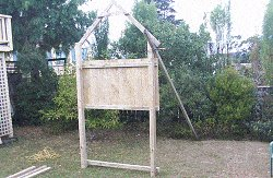 Kid's Play Fort Plan : Standing the Front and Rear Wall