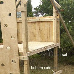 Kid's Play Fort Plan : Fixing the Lower Side Rails