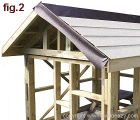 Playhouse Plans : Roof Paper Boards
