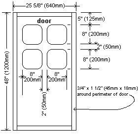 playhouse door windows dimensions