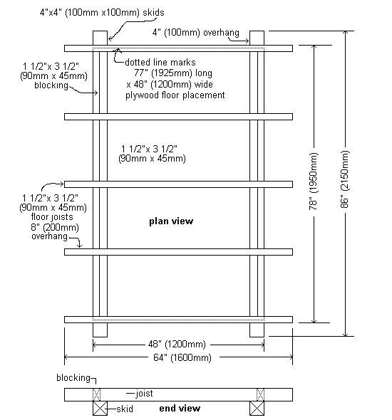 Plywood Playhouse Plan : Floor Plan