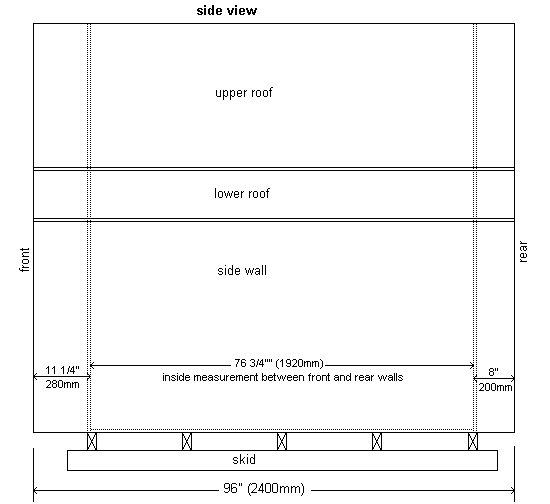 Plywood Playhouse Plan : Side Elevation