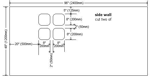 Plywood Playhouse Plan : Side Walls