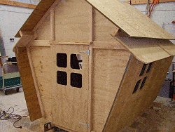 Plywood Playhouse Plan : Fit th edoor and Shutters