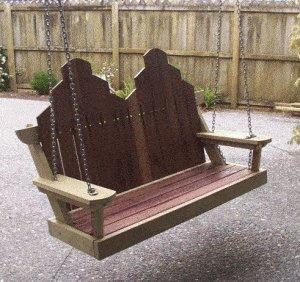 Porchswing Seat Plan : Finish