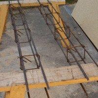 Concrete Gate Post : reinforcing rebar