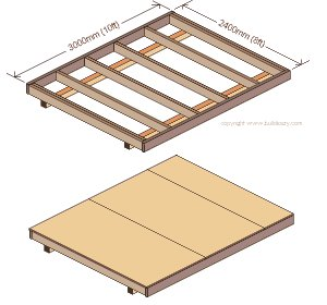 8'x10' Storage Shed Plans : Floor Plans