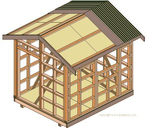 8'x10' Storage Shed Plans : Fascia, Rake Board and Builders Felt
