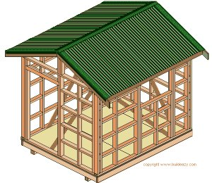 8'x10' Storage Shed Plans : the Roof