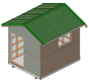 8'x10' Storage Shed Plans : Building wrap / Builders felt