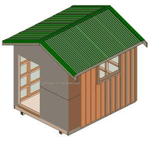 8'x10' Storage Shed Plans : Exterior Vertical Boards