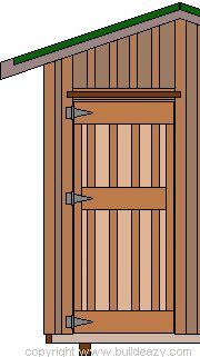 8'x10' Storage Shed Plans : Making the Door