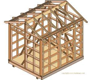 8'x10' Storage Shed Plans