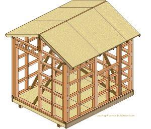 8'x10' Storage Shed Plans : Roof Sheathing