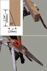 sawstool top leg cut