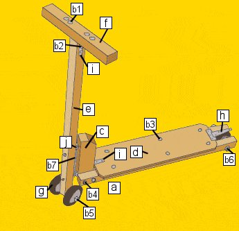 Scooter Schematic Parts - Metric Version