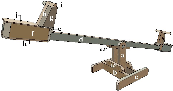 Seesaw with Sliding Seats : Overall View