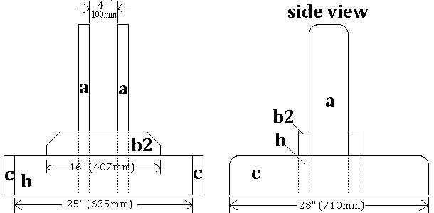 Seesaw with Sliding Seats : Base Pieces Plans
