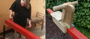 Seesaw with Sliding Seats : Paint