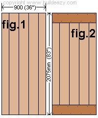 Shed Door Plan : Lay the Vertical Door