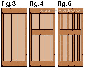 Shed Door Plan : Shed Door Rails and Battens
