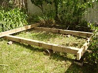 Shed Floor Plan : Placing and Fixing the End Joists