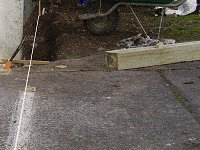 Sliding Gate: Determining the Line and Digging a Trench in the Ground