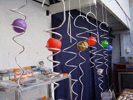 Spiral Wind Spinner With Ball : spiral tails