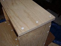 Step Stool : Fill the Screw Holes