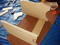 Step Stool : Fix the Stool Sides to the Front Rail