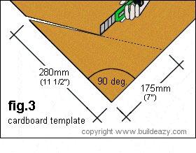 Cardboard Template Step Angle