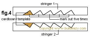 Lumber Steps : Cardboard Template