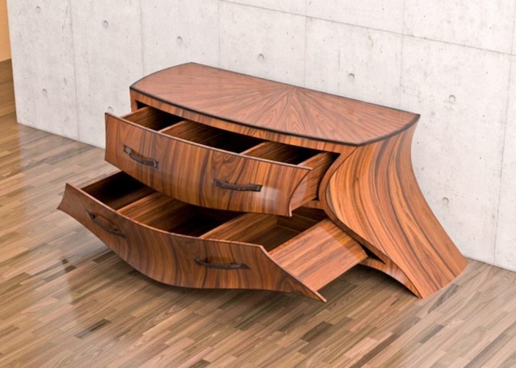 strange wooden cupboard