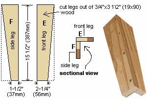 Sun Lounge Plan : Front Legs Parts