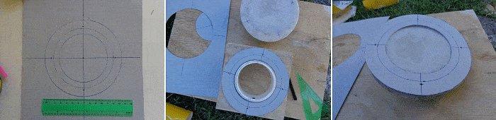 Tardis plan : template for the threaded rod