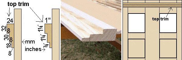 Tardis Plan : stiles, rails, and wall top trims