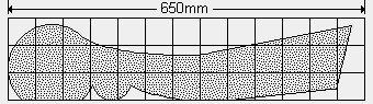 Old Style Park Bench Plan : Grid Spacing - Metric Version