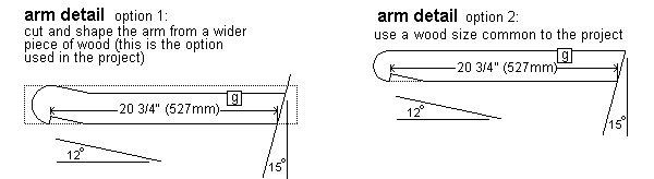 King Chair Plans : Arm Detail