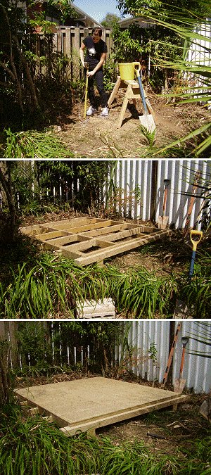 8x7 Tudor-Style Garden Shed Plan : Positioning the Sub Floor