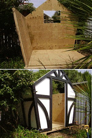 8x7 Tudor-Style Garden Shed Plan : Standing the Walls