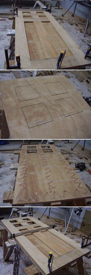 8x7 Tudor-Style Garden Shed Plan : Door Pieces