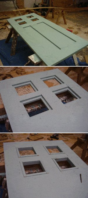 8x7 Tudor-Style Garden Shed Plan : Painting the Door