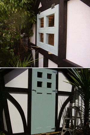 8x7 Tudor-Style Garden Shed Plan : Hanging the Door and the Window