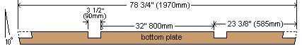 8x7 Tudor-Style Garden Shed Plan : Bottom Plate